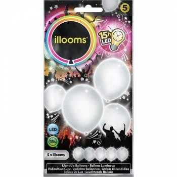 5 Ballons lumineux blanc