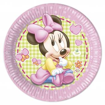 8 Assiettes Baby Minnie