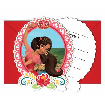 6 Cartes invitations Princesse Elena d'Avalor