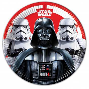 8 Assiettes Star Wars final battle