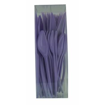 Couverts plastiques lilas