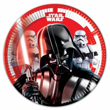 8 Assiettes dessert Star Wars final battle