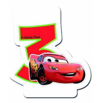 Bougie chiffre Cars N°3