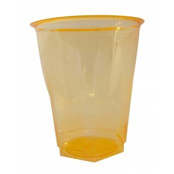 Gobelets plastique effet cristal orange