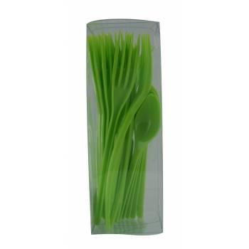 Couverts plastiques vert anis
