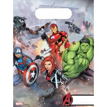 6 Sacs cadeaux Avengers mighty
