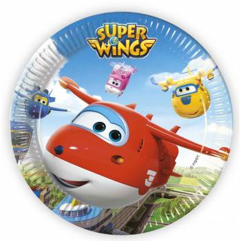8 Assiettes anniversaire Super Wings