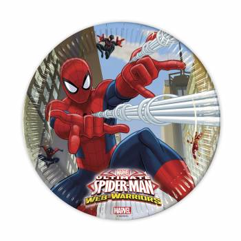 Lot 8 Assiettes Spiderman Warriors