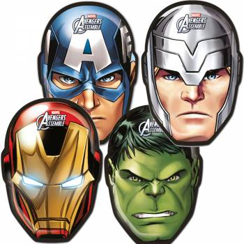 Lot 6 Masques en carton The Mighty Avengers