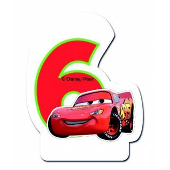 Bougie chiffre CARS N°6