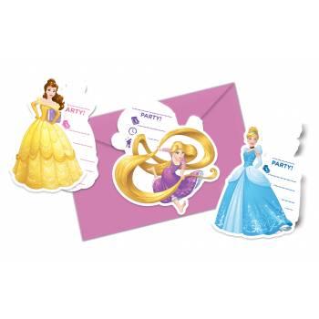 Invitations anniversaire Disney princesses