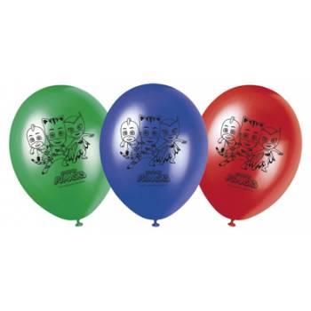 8 Ballons anniversaire Pyjamasques