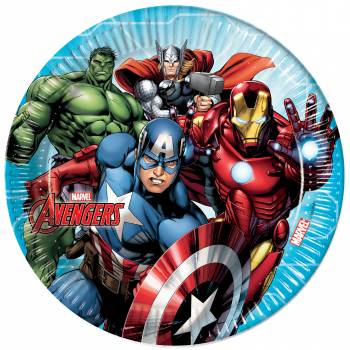 8 Assiettes Avengers mighty