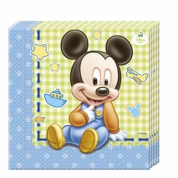 Serviettes Mickey bébé - Deco Anniversaire.fr