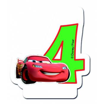Bougie chiffre CARS N°4