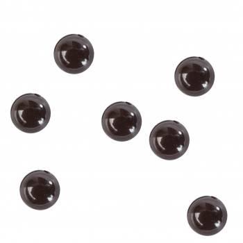 Perles de pluie de table noire