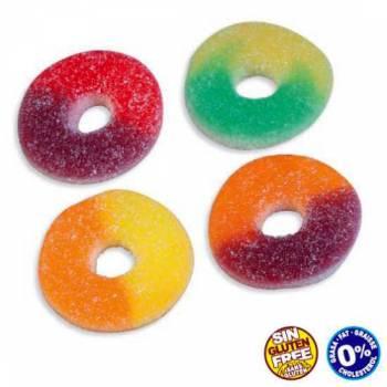 1 Kg Bonbons anneaux assortis aux fruits