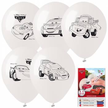 Kit 5 Ballons à colorier Cars