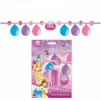 Set 6 guirlande de ballons Disney princesses
