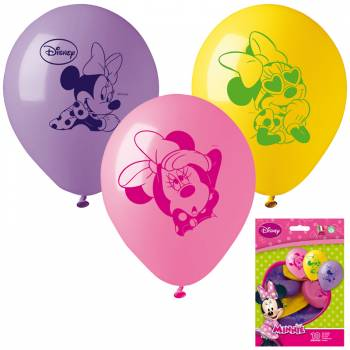 10 Ballons latex Minnie