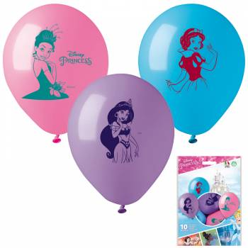 10 Ballons Disney Princesses