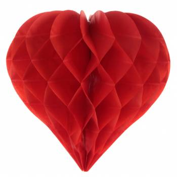 2 décors à suspendres coeur rouge
