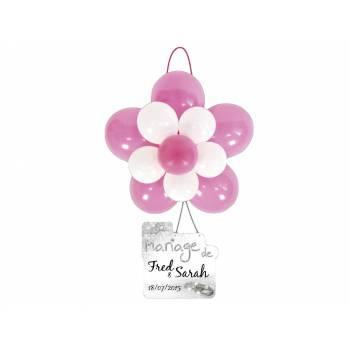 Kit décor rosace mariage Fuchsia