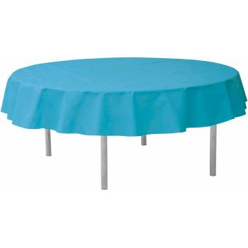 Nappe ronde intissée turquoise
