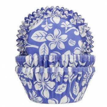 50 Caissettes cupcakes Aloha bleu