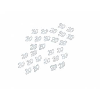 confettis 20 ans métallisés argent
