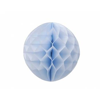Boule alvéolée à suspendre bleu ciel