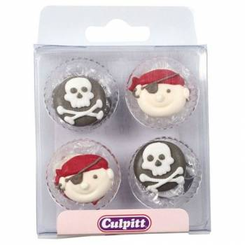 12 Mini décors sucre Pirates