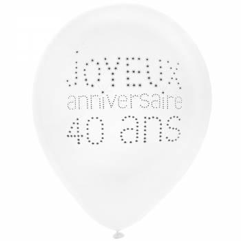 8 Ballons Joyeux Anniversaire 40 ans