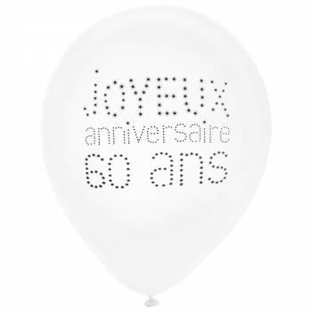 8 Ballons Joyeux Anniversaire 60 ans