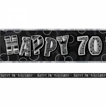 Banderole 70 ans Black/White
