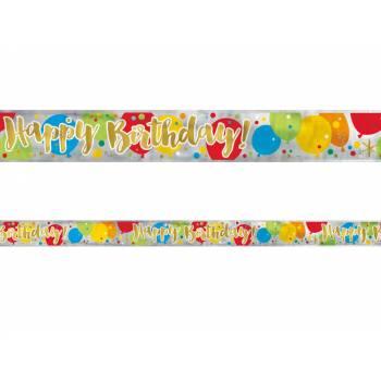 Banderole alu Birthday Ballons confettis