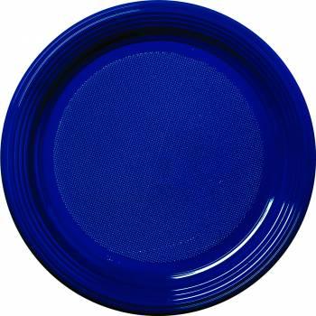 Assiettes eco jetables bleu marine