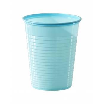 Gobelets plastique éco bleu ciel