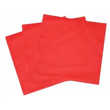 Serviettes jetables rouge intissées