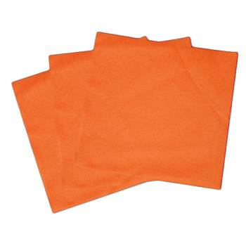 Serviettes jetables orange intissées