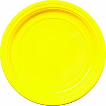 Assiettes eco jetables jaune
