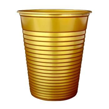 50 Gobelets en plastique eco or