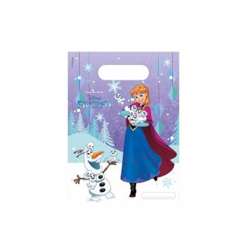 6 Sacs cadeaux La Reine des Neiges flocons