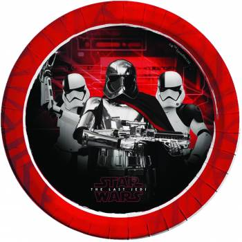 8 Assiettes en carton Star Wars Last Jedi