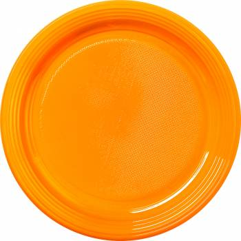 30 Assiettes plastique eco orange