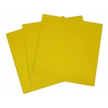 Serviettes jetables jaune vif intissées