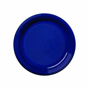 Assiettes dessert eco jetables bleu marine