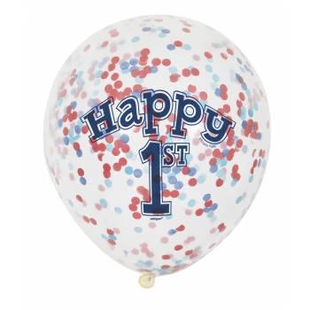 6 Ballons confettis 1 an