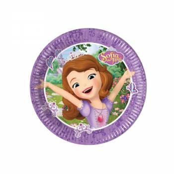 8 Petites Assiettes Princesse Sofia