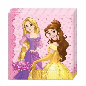 Serviettes thème Disney princesse charming